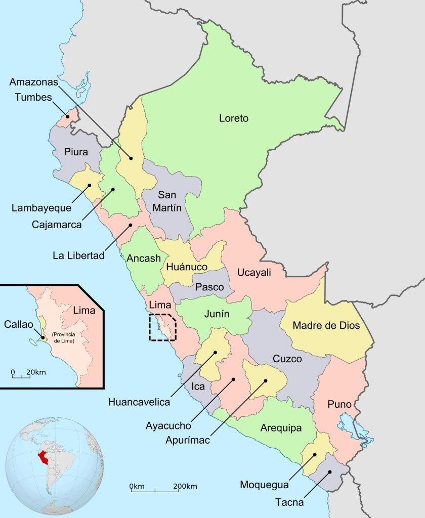 Régions du Pérou