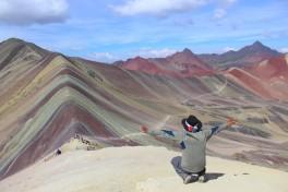"""Vinicunca, """"montagne arc en ciel"""", région de Cuzco."""