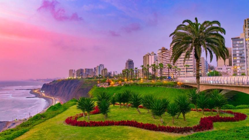 Quartier de Miraflores en front de mer, Lima.