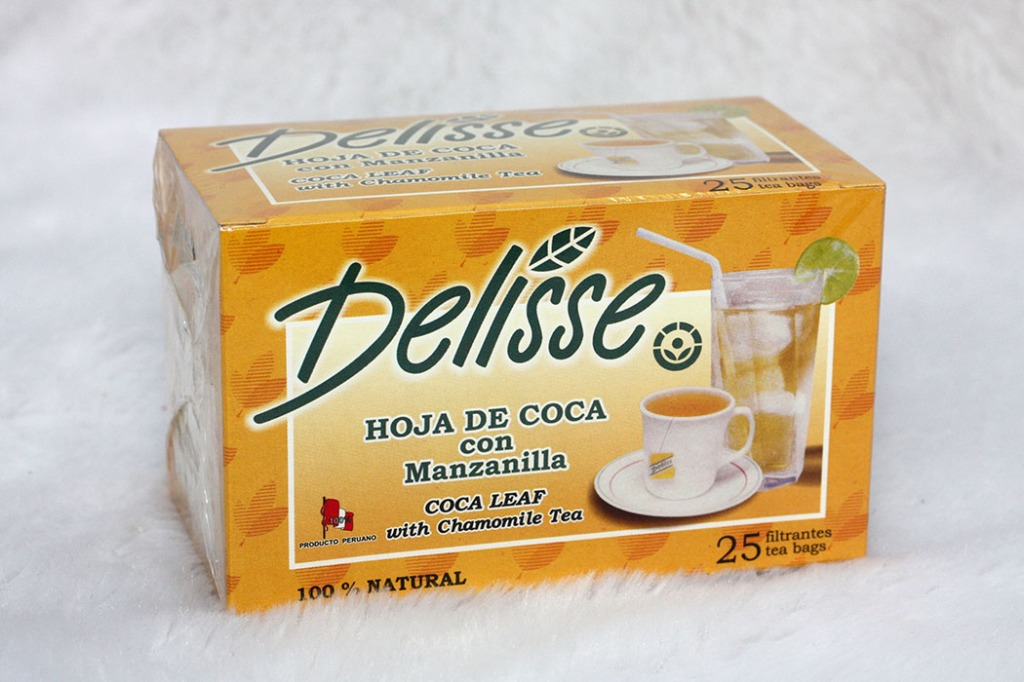 Boite de sachets filtrants de feuilles de coca, marque n°1 au Pérou.