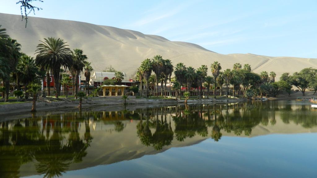 Oasis de Huacachina, Ica. Voyage Pérou.