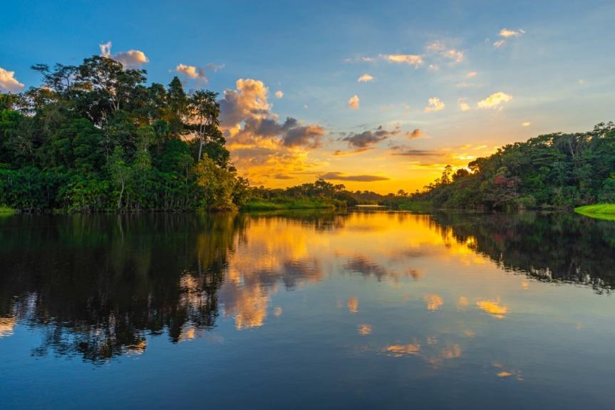Le fleuve Amazone.