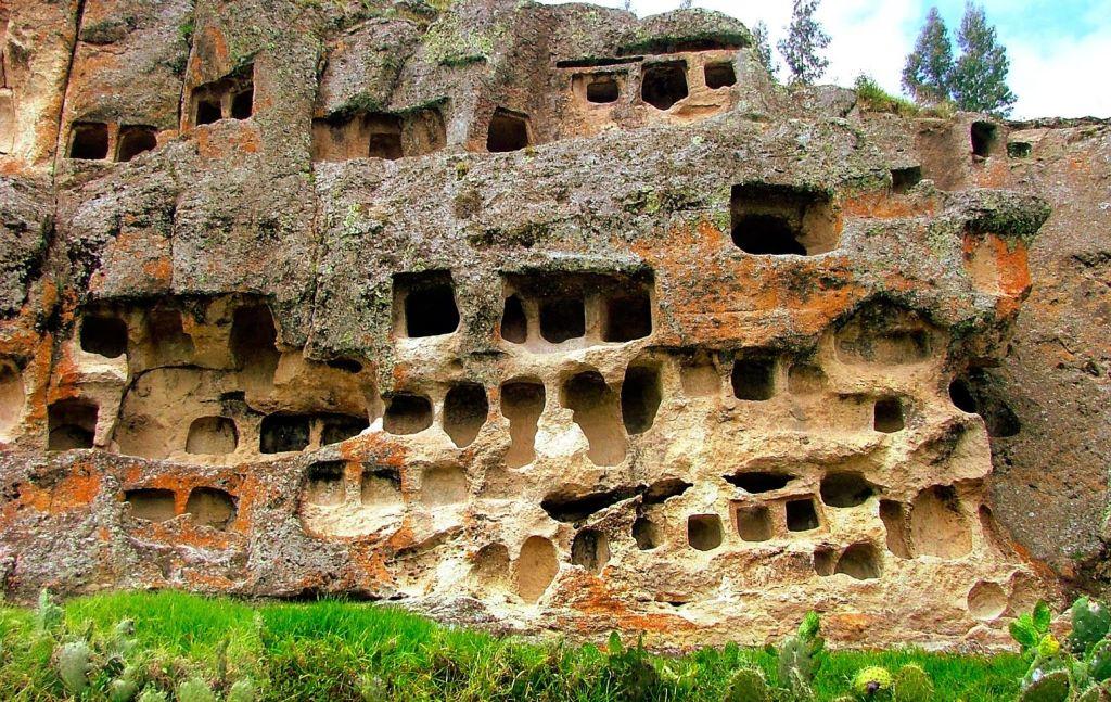 Les ventanillas de Otuzco à Cajamarca.
