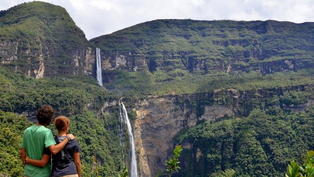 Les chutes de Gocta, dans la région de la ville de Chachapoyas.