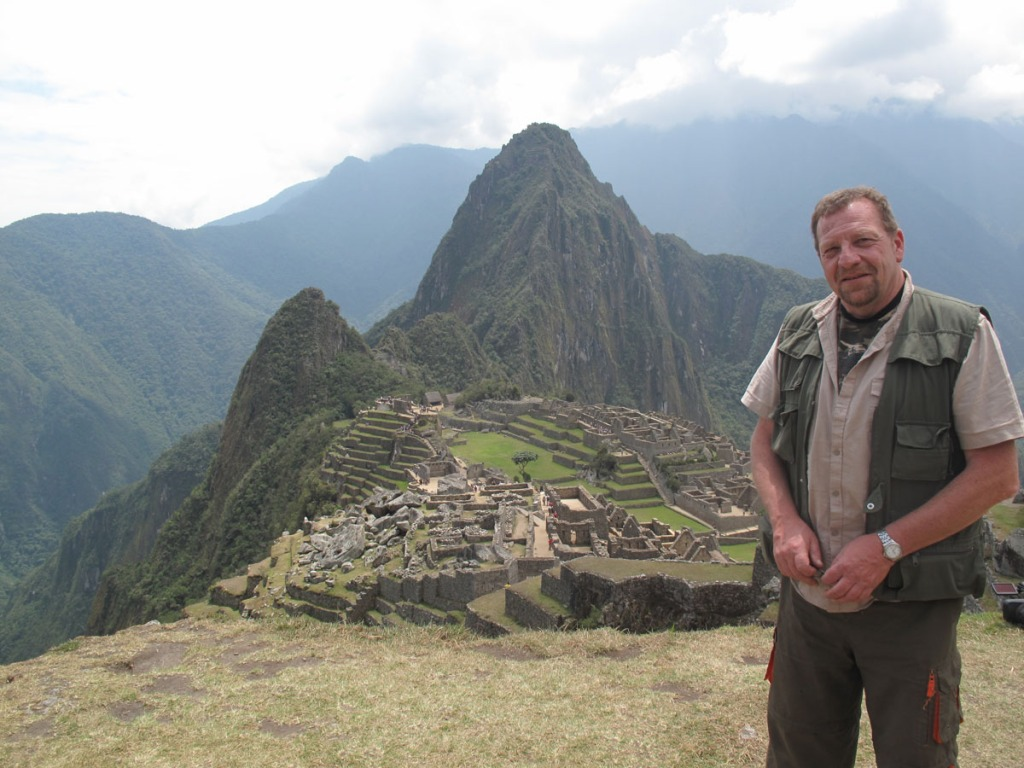 Alain Bonnet à Machu Picchu. Crédit photo : ©Alain Bonnet / Jungle Doc Productions