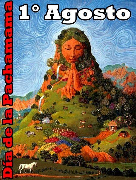 Représentation artistique de Pachamama. Dans les pays andins, elle est célébrée le 01 août.